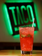 The raspberry mojito Wednesday, April 20, 2016, at
