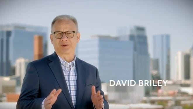 """Mayor David Briley's new TV ad — which started airing Thursday, the day before early voting begins — is meant to tout a """"back-to-the basics agenda."""""""