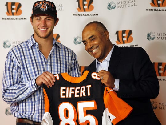 Bengals First-round draft pick and Notre Dame tight
