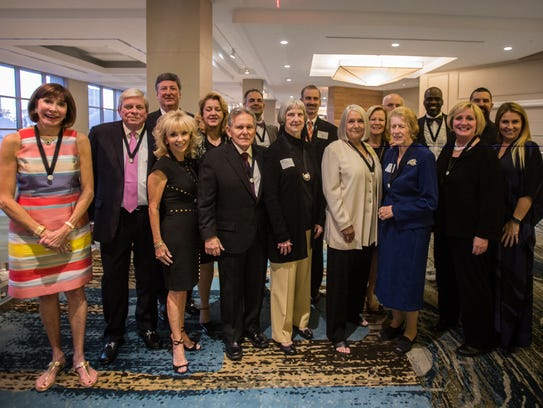 Champions for Learning's honorees pose for a photo