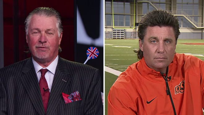 Mike Gundy and Barry Melrose spoke about their mullets on ESPN.