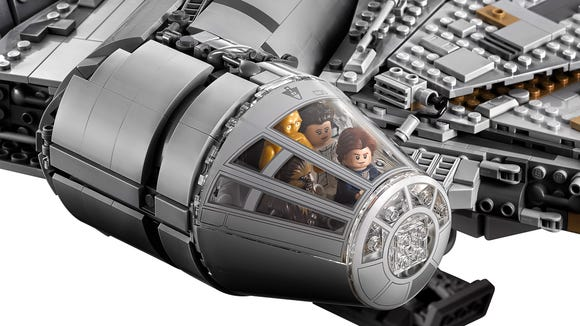 The new Lego Falcon's cockpit can hold four minifigures