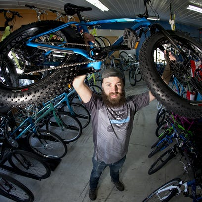 Fat bikes specialize in off-road riding, especially in snow or sand. The bikes have seen a huge jump in popularity in the past two years, according to Fox Valley bike shops.