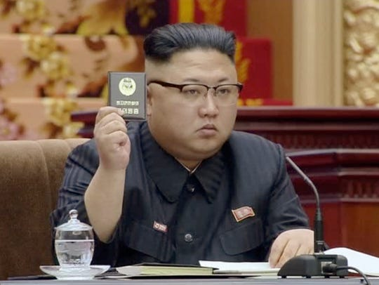 In this image made from video released by North Korean