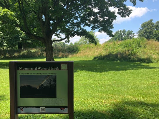 The Hopewell Earthworks, a national Historic Landmark,