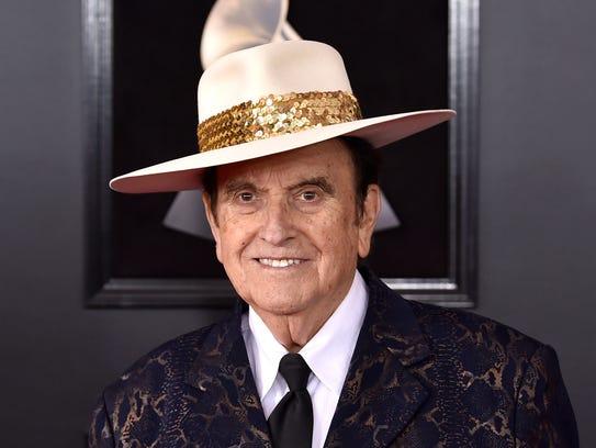 Bobby Osborne arrives at the 60th annual Grammy Awards