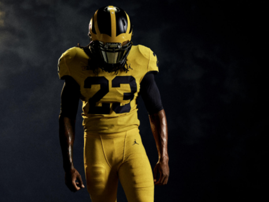Michigan's alternate uniform for its Sept. 2 opener