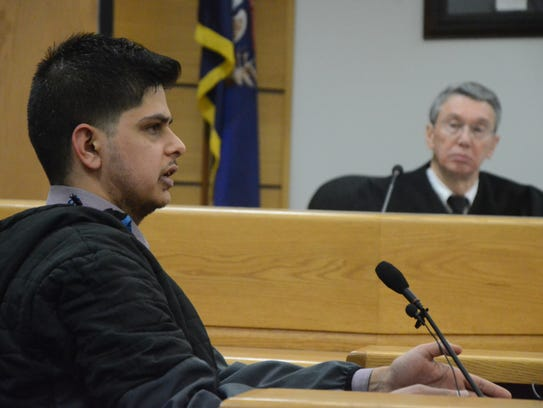 Judge Samuel Durham listens to testimony by Rohid Makhija.