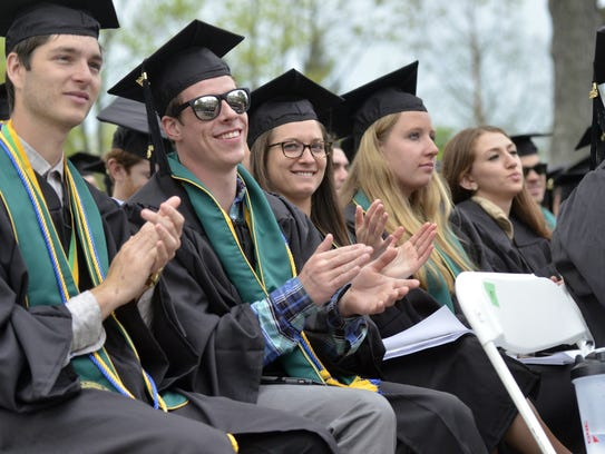 Graduates in the University of Vermont's class of 2016