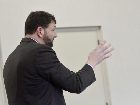 Defense attorney Brian Marsicovetere, who is defending