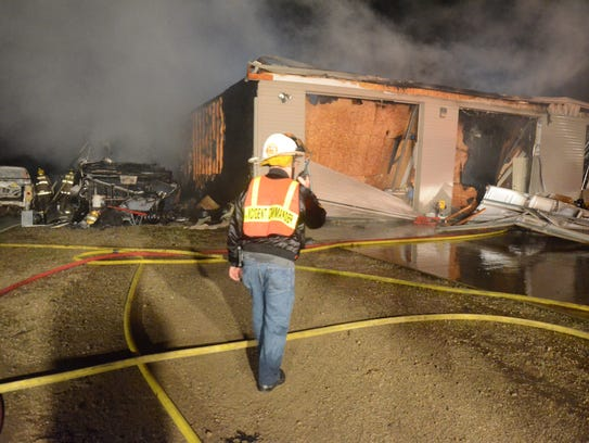 Bedford Township firefighters said a fire early Sunday