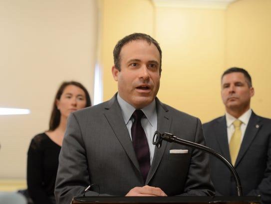 Burlington Police Chief Brandon del Pozo speaks at