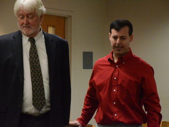Michael Mileski with his attorney, Richard Pattison,