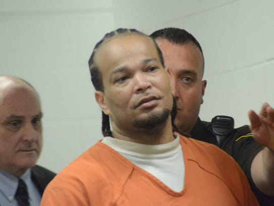 Ashanti Guy enters the courtroom before being sentenced