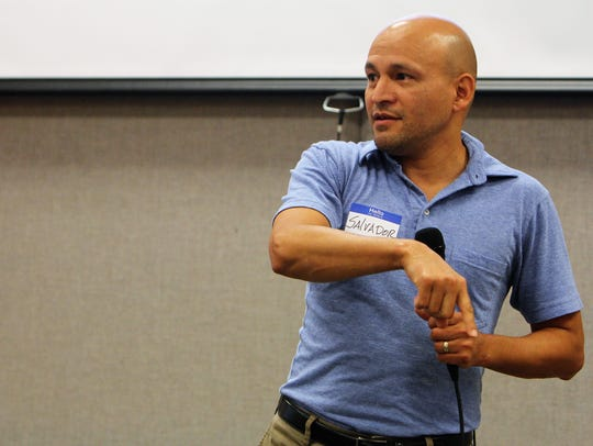 Salvador Villaseñor, who immigrated from El Salvador,