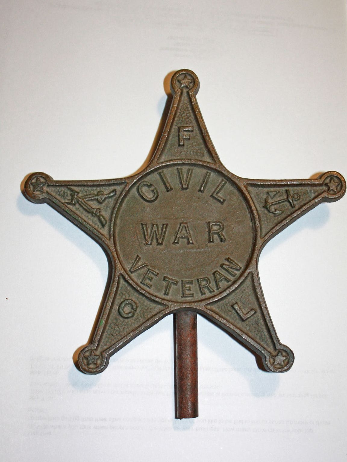 Thomas Moncrief's Civil War Veteran star