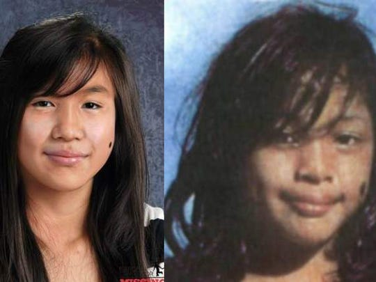 These photos show Maleina Luhk at around the time she disappeared, right, and what she might look like now, left.