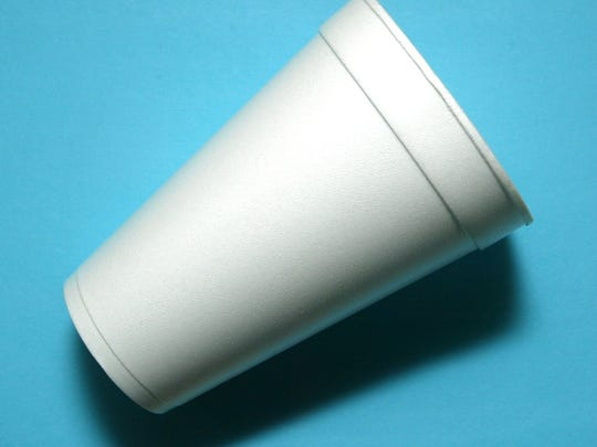 A common Styrofoam cup