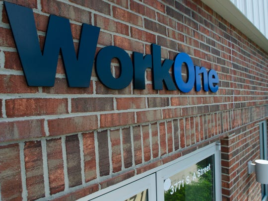 A view of the front of Wayne County's WorkOne center in Richmond.