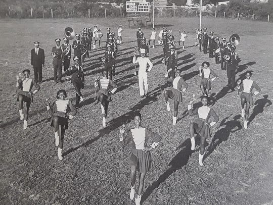 The Dunbar High Marching Band in 1950