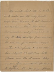 A page from a message President Franklin Roosevelt