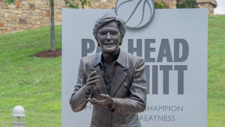Pat Head Summitt statue bookends park with women's Olympic heroes