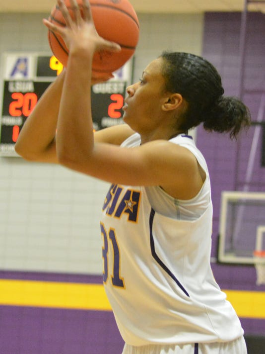 ANI LSUA vs. Jarvis Kayla Morgan (31shoots against Jarvis Saturday Dec. 13, 2014.-Melinda Martinez/mmartinez@thetowntalk.com The Town Talk, Gannett