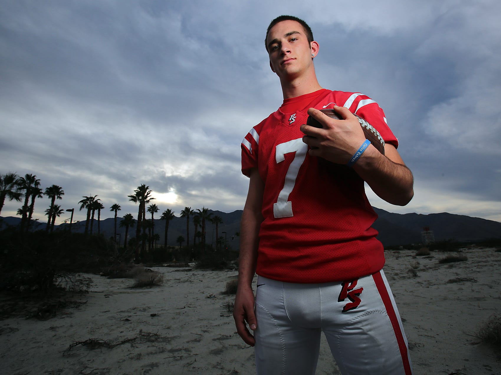 Palm Springs High School senior Riley Hagar played on the offense, defense, and as a punter on special teams this year for the champion Indians.