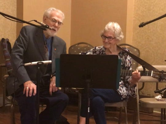 "Ron Barnett's parents, Bob and Bonnie, sing ""Have I Told You Lately that I Love you"" during their 70th anniversary celebration."