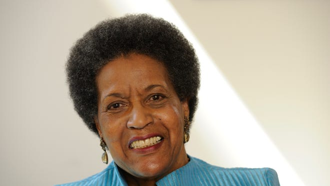 Myrlie Evers-Williams, widow of slain civil rights leader Medgar Evers.
