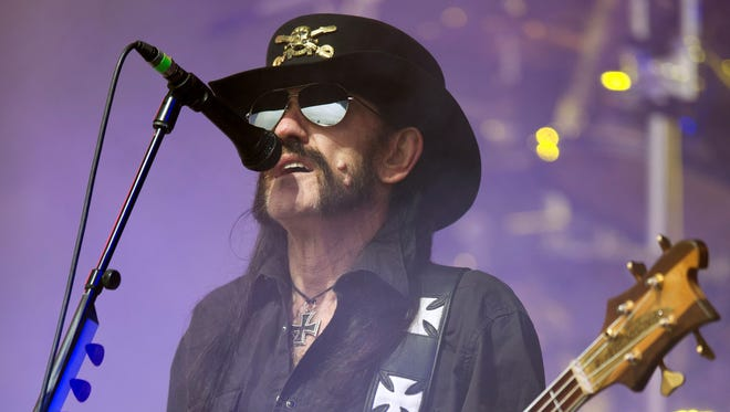 "The late Lemmy"" Kilmister of Motorhead."
