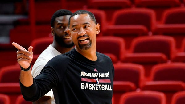 Miami Heat assistant coach Juwan Howard, age 45.