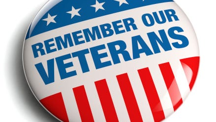 Be sure to thank  a veteran today for their service to our country