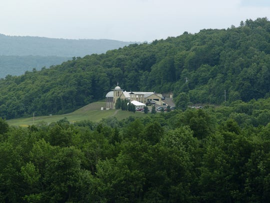 Heron Hill Winery, seen in the distance in Hammondsport, Steuben County, is the home of Blue Heron Café.