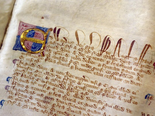 A page from the Magna Carta.