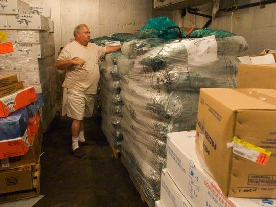 Dennis Henderson, co-owner at Trico Shrimp Co,