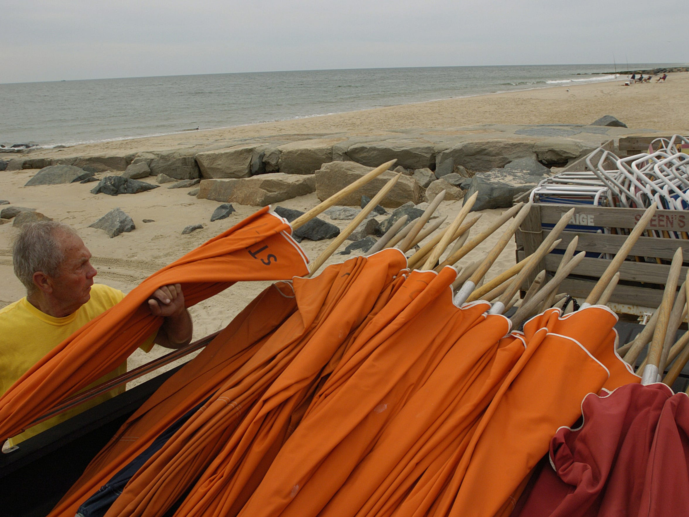 Keeping up with coastal storms and beach erosion has been a problem for years. In 2006, Ron Steen outfitted his beach stands for the summer season. He has rented umbrellas, chairs and boogie boards on Bethany Beach for the last 58 years. In 2006, the beach was in better shape than it is today.