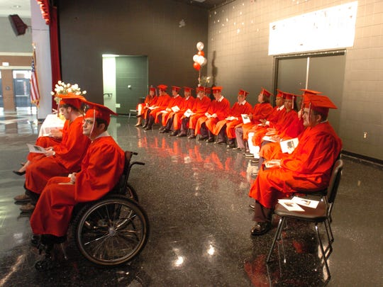 The Lafayette Charter High 2006 graduating class participates in commencement exercises.