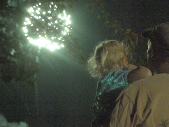 The annual fireworks show will take place at dusk at