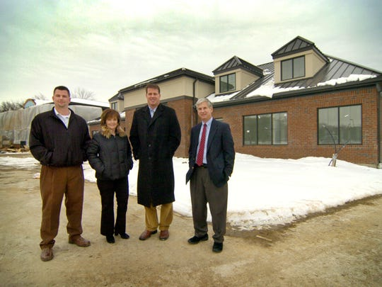 Todd Leary with two of his former business partners, Judy Cohen (second from left) and former Colt Ken Dilger (second from right) in 2007.