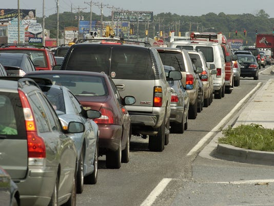 beach traffic