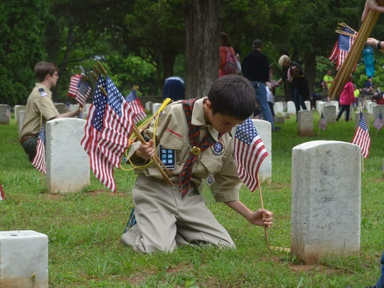 Local troops of Boy Scouts, Girl Scouts, Cub Scouts