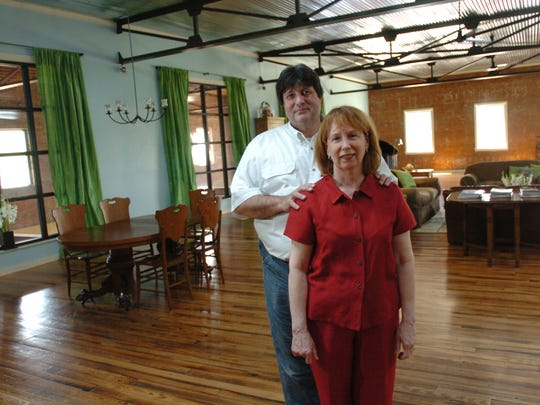 Jim and Frances Hurst provide a glimpse of what downtown living can look like with their renovated home on Washington Street, shown in 2008.