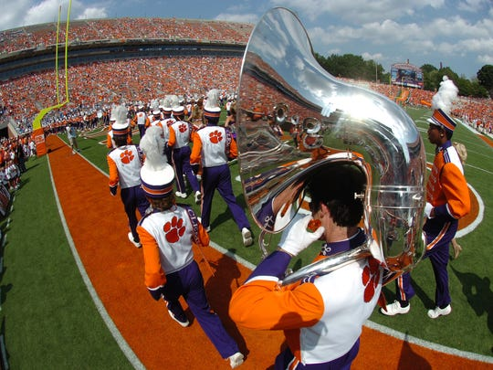 Clemson's band before the Tigers game against The Citadel Saturday, September 6, 2008 at Clemson's Memorial Stadium.