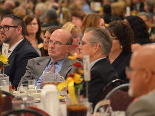 Audience members listen to Ron Fornier during his keynote address to the more than 230 guests in attendance.