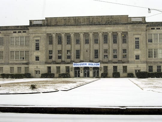Snow at Bolton High School on Jan. 28, 2013.