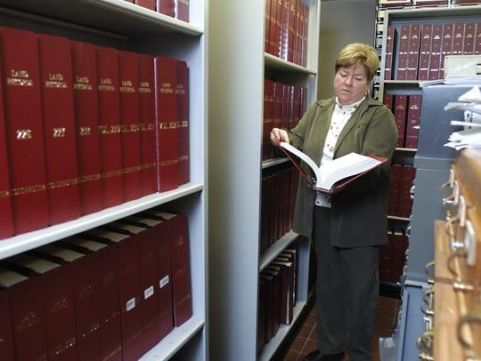 Karen Richard, the Colchester town clerk, uses the
