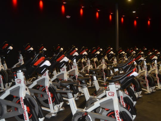 CycleBar Hendersonville has 48 bikes, which riders can adjust and lock in to.