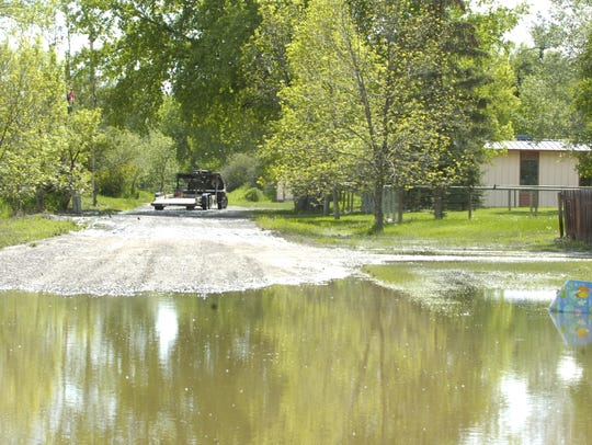 Although water is receding from a recent round of flooding