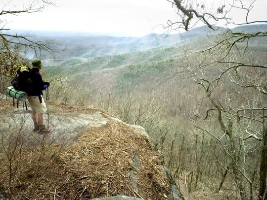 Joe McMaster overlooks the Georgia mountains on Ramrock